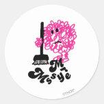 Sr. Messy Logo 1 Pegatinas Redondas