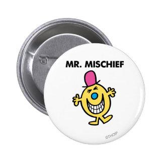 Sr. Mischief el | que sonríe alegre Pin Redondo De 2 Pulgadas