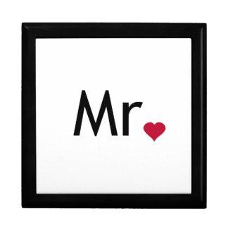 Sr. - mitad de Sr. y de la señora sistema Cajas De Joyas