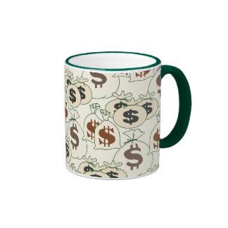Sr. Money Bags Mug Taza De Dos Colores