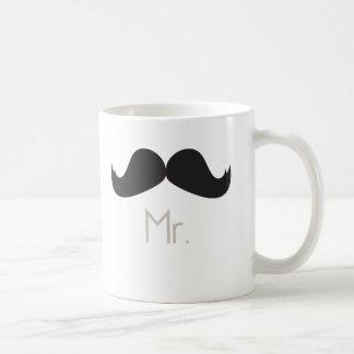 Sr. Moustache Mug Taza De Café