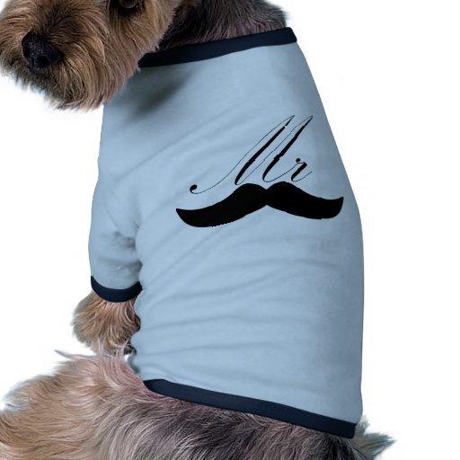 Sr. Mustache Camiseta Con Mangas Para Perro