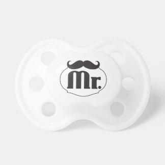 Sr. Mustache del hombre de Lil del bebé Chupetes De Bebe