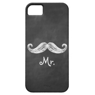Sr. Mustache en la identificación de la casamata Funda Para iPhone 5 Barely There