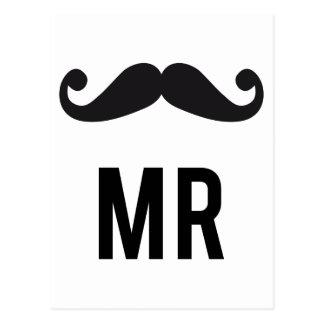 Sr. Mustache Tarjeta Postal