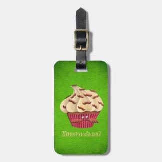 Sr Mustached Cupcake Etiquetas Bolsas