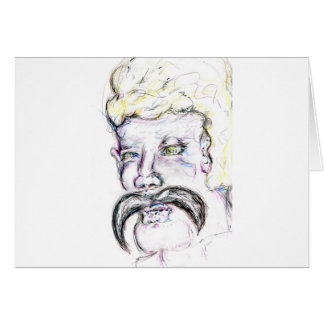Sr. Mustachio Heraclitus Tarjeta De Felicitación