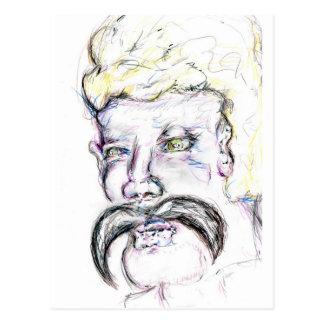 Sr. Mustachio Heraclitus Tarjeta Postal