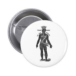 Sr. Nerves Nerve Tonic del vintage del kitsch Pin Redondo 5 Cm