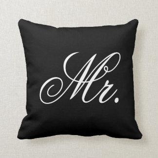Sr. Newlywed Elegant Wedding Pillow Almohadas