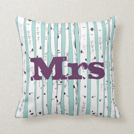 Sr. o la señora personaliza las almohadas del