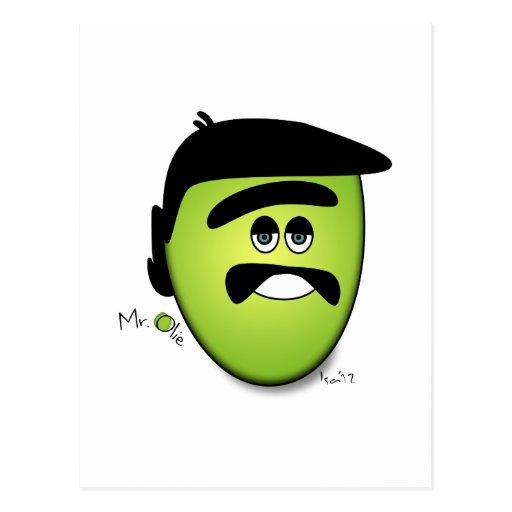 Sr. Olie The Moody Olive - refresqúese Postales