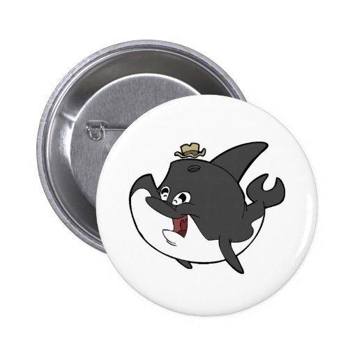 Sr. Orca Pin Redondo 5 Cm