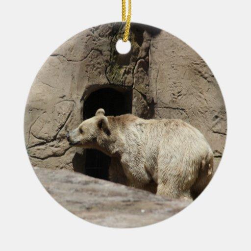 Sr. oso polar Orniment Adorno Redondo De Cerámica