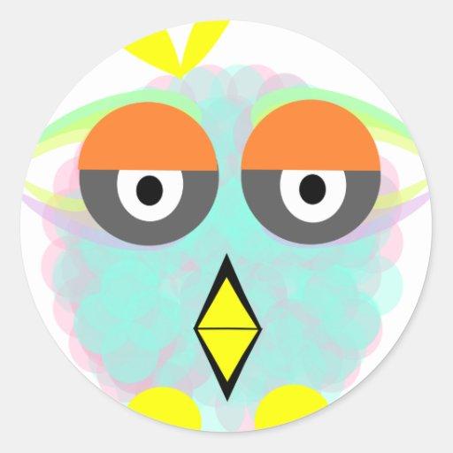 Sr. Owly Pegatinas Redondas