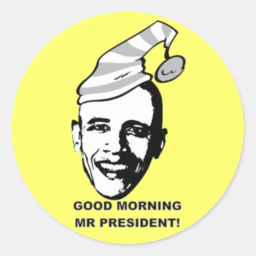 Sr. P. de la buena mañana Etiquetas Redondas