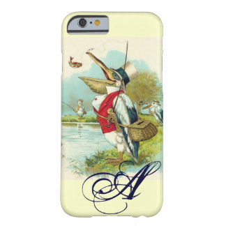 SR. PELICAN FISHING MONOGRAM, crema Funda Para iPhone 6 Barely There
