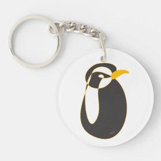 Sr. Penguin Llavero Redondo Acrílico A Doble Cara