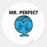 Sr. Perfect Classic Pegatinas Redondas
