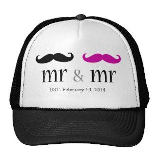 Sr. personalizado y Sr. Mustache Trucker Hat Gorros