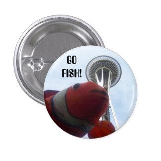 Sr. pescado va a Seattle Pin Redondo De 1 Pulgada