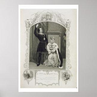 Sr Phelps como Hamlet y Srta Glyn como reina Ger Poster