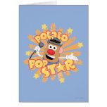 Sr. Potato Head - estrella del pop Tarjeta De Felicitación