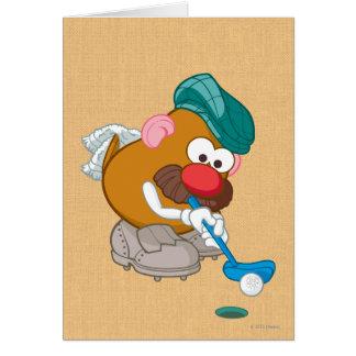 Sr. Potato Head - golfista Tarjeton