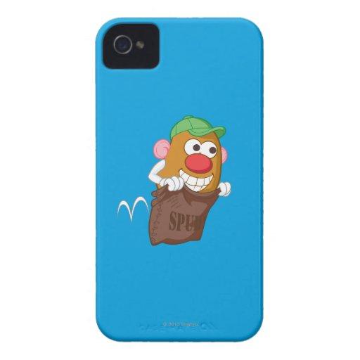 Sr. Potato Head Hopping en saco de la patata Case-Mate iPhone 4 Coberturas