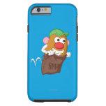 Sr. Potato Head Hopping en saco de la patata Funda De iPhone 6 Tough