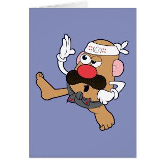 Sr. Potato Head - karate Tarjeta De Felicitación