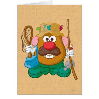 Sr. Potato Head - pescador Tarjetas