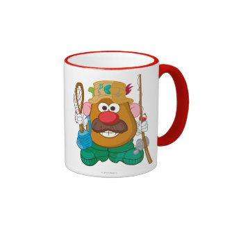 Sr. Potato Head - pescador Taza A Dos Colores