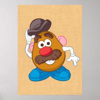 Sr. Potato Head Tipping Hat Póster
