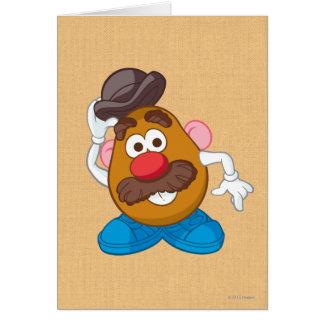 Sr. Potato Head Tipping Hat Tarjeta De Felicitación