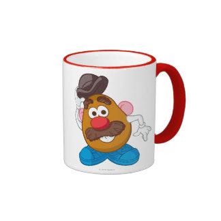 Sr. Potato Head Tipping Hat Taza De Dos Colores