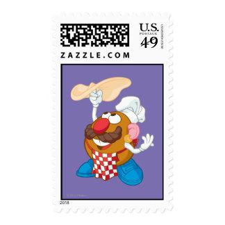 Sr. Potato Head Tossing Pizza Sellos