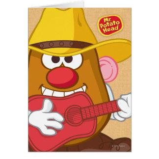 Sr. Potato Head - vaquero Tarjeta De Felicitación