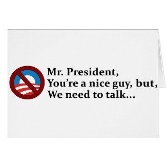 Sr. presidente, necesitamos hablar… tarjetas