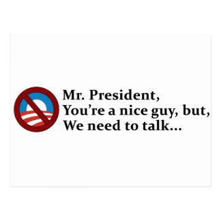 Sr. presidente, necesitamos hablar… postales