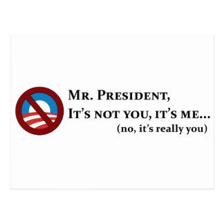 Sr. presidente, no es usted, él es yo… tarjetas postales
