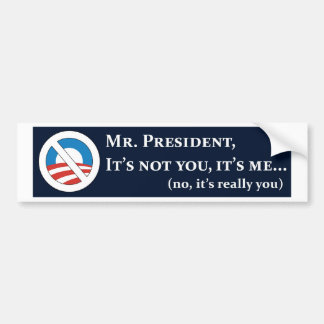 Sr. Presidente su no usted su yo DK blue.jpg Pegatina Para Auto