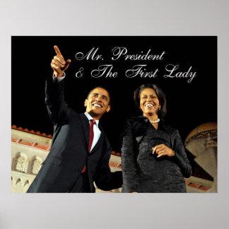 Sr. presidente y la primera señora del poster
