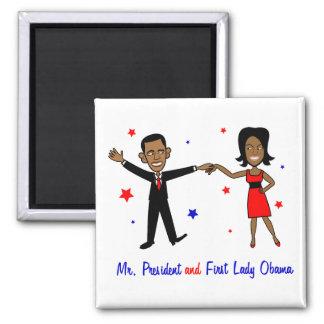 Sr. presidente y primera señora Obama Iman De Frigorífico