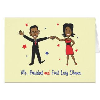 Sr. presidente y primera señora Obama Tarjetón