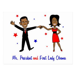 Sr. presidente y primera señora Obama Tarjeta Postal