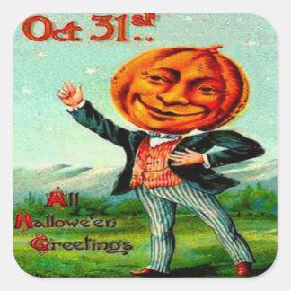 Sr. Pumpkin Pegatina Cuadrada