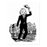 Sr. Pumpkinhead' de Halloween del vintage del kits Tarjeta Postal