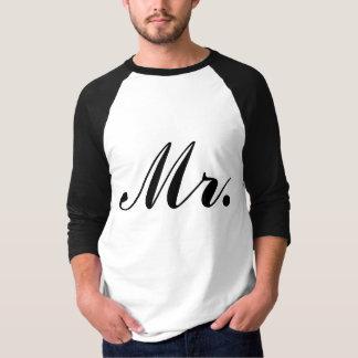 Sr. Raglan T-shirt del recién casado Polera