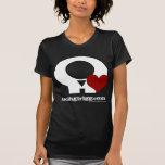 Sr. Rattles Skull con el corazón Camisetas